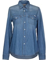 Mother Blue Denim Shirt - Lyst