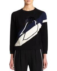 Fendi Cashmere & Fur Bird Pullover black - Lyst