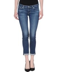 AG Adriano Goldschmied Denim Trousers blue - Lyst