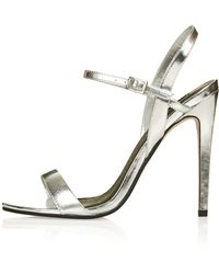 TOPSHOP - Rolo Skinny Strappy Sandals - Lyst