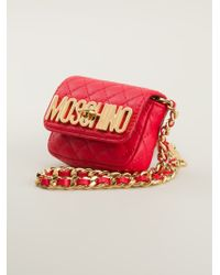 Moschino Mini Quilted Cross Body Bag - Lyst