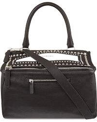 Givenchy Medium Pandora Studded Over The Shoulder Handbag - Lyst