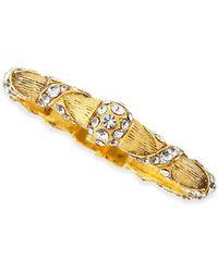 Jose & Maria Barrera Gold Plated Crystal Ribbon Bracelet - Lyst