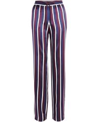 Joseph Striped Wide Leg Trousers - Lyst