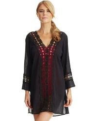 La Blanca Sheer Crochet Swim Tunic Cover Up - Lyst