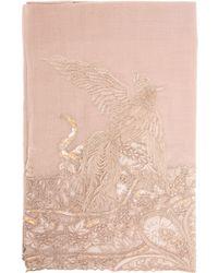 Janavi Bird Embroidered Cashmere Scarf - Lyst