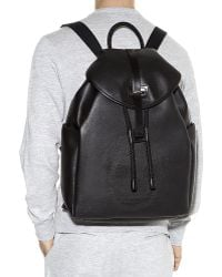 Alexander McQueen Perforated Skull Leather Backpack - Lyst