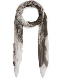 Oska - Osaka Grey Tie Dye Effect Scarf - Lyst