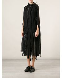 Junya Watanabe Fringed Sequins Embroidered Dress - Lyst