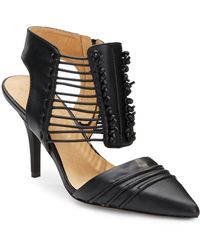 L.a.m.b. Riley Leather D'Orsay Pumps - Lyst