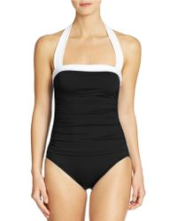 Lauren by Ralph Lauren Bel Aire Halter Swimsuit - Lyst