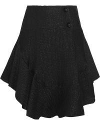 Chloé Ruffled Silkblend Cloqué Mini Skirt - Lyst
