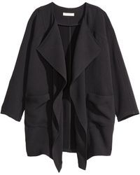 H&M Draped Coat - Lyst