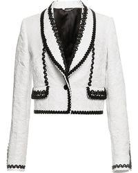 Dolce & Gabbana Bianco Brocade Bolero Jacket - Lyst