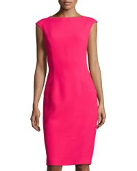 Michael Kors Cap-sleeve Sheath Dress - Lyst