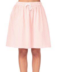 Petit Bateau Mini Skirt - Lyst