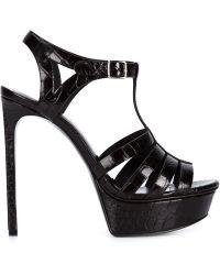 Saint Laurent - Bianca 105 Heeled Sandals - Lyst