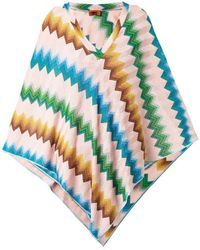 Missoni Mare Chevron-knit Metallic Poncho - Lyst