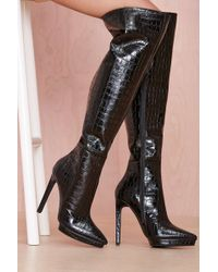Nasty Gal Jeffrey Campbell Feist Leather Boot - Lyst