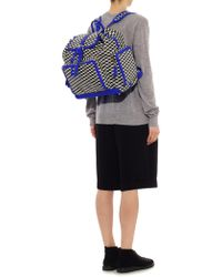Pierre Hardy - Cube-Print Coated-Canvas Backpack - Lyst