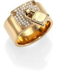 Michael Kors - Padlock Sparkle Ring - Lyst