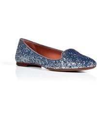 L'Autre Chose Glitter Slipperstyle Loafers - Lyst
