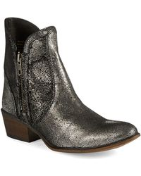 Steve Madden Zipstr Leather Ankle Boots - Lyst