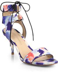 Loeffler Randall Ambrose Printed Leather Sandals multicolor - Lyst