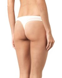 Elle Macpherson - Dentelle Lace And Stretch-Tulle Thong - Lyst