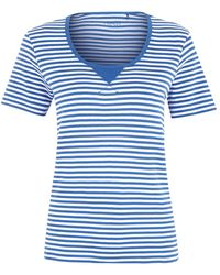 Dash Stripe Scoop Neckline Top - Lyst