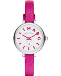 Marc By Marc Jacobs Sally Watch With Leather Strap - Lyst