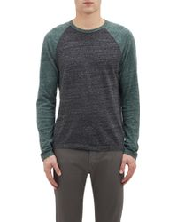 James Perse Contrast Raglan Sleeve T-Shirt - Lyst