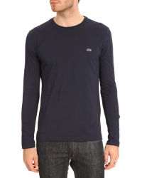 Lacoste Ml Navy Tshirt - Lyst