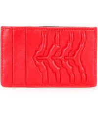 Alexander McQueen Spine-Embossed Leather Card Holder - Lyst