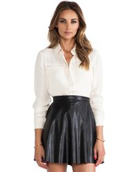 Theory Olava B Top - Lyst
