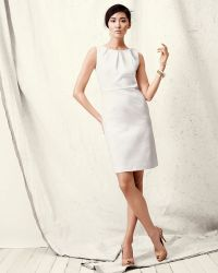 Bigio Collection - Pique Capsleeve Dress - Lyst