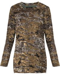 Isabel Marant Edilon Sequined Dress Top - Lyst