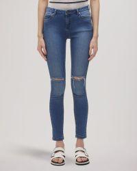 Whistles ripped knee skinny jeans black