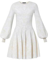 Alexander McQueen 3d Floraljacquard Stretchknit Dress - Lyst