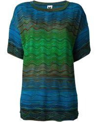 M Missoni Zig Zag Oversized Top - Lyst