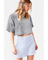Cope - Silk Circle Mini Skirt - Lyst