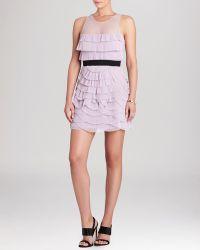 BCBGMAXAZRIA Dress - Karyna Sleeveless Ruffled Tulle - Lyst