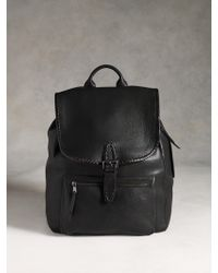 John Varvatos Moto Braid Backpack - Lyst