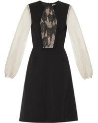 Honor Lace-Panel Bi-Colour Dress black - Lyst