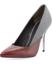 Alexander Wang Cicely Mixed-leather Pump - Lyst