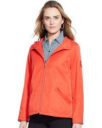 Lauren by Ralph Lauren Zip-Front Hooded Jacket - Lyst