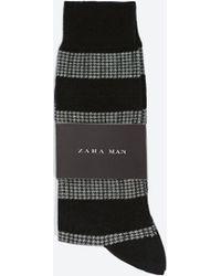 Zara Patterned Socks - Lyst