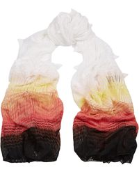Missoni Ombrã©-Effect Chevron-Knit Cotton-Blend Scarf - Lyst