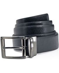 English Laundry - Reversible Crosshatch Leather Dress Belt - Compare At $49.50 - Lyst