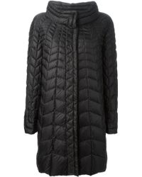 Ermanno Scervino Midlength Padded Coat - Lyst